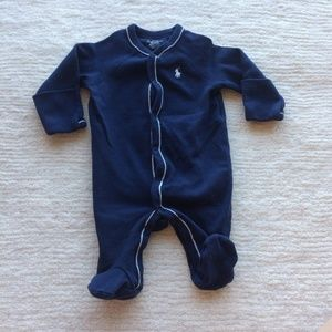 Ralph Lauren Baby Boy Onesie Sleeper PJ Footie
